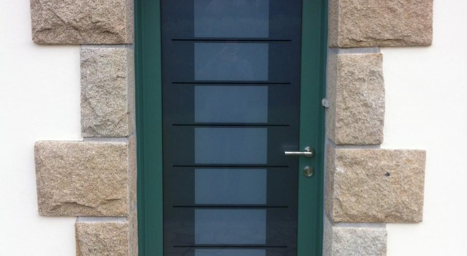 porte d 39 entr e mixte bois aluminium mc france sur quimper