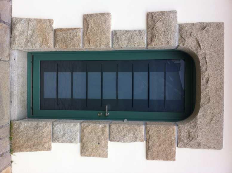 porte d 39 entr e mixte bois aluminium mc france sur quimper le loup habitat. Black Bedroom Furniture Sets. Home Design Ideas