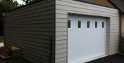Construction d'un garage à ossature bois attenant à la maison sur Fouesnant.
